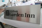 Customized Hotel Inn Decoration Brushed Steel Wall Identity Plaque