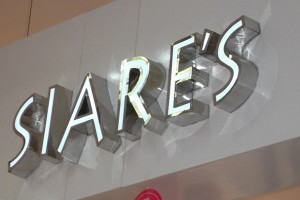 Face-Lit Stainless Steel LED Channel Letters for Shop Signage