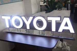 Face-Lit Stainless Steel LED Channel Letter for Shop Signage