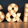 Customized Metal Painted Shell Housings LED Light Bulb Letters Sign
