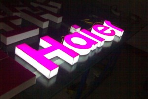 3D LED Lighting Acrylic Outdoor Sign