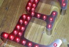 Advertising 3D LED Point Light Exposed Steel Channel Letter Signs