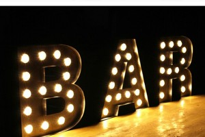 High Quality Standing 3D Ironlighting Letters