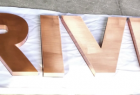 Copper Stainless Steel Letter Sign for Shop Outdoor and Indoor