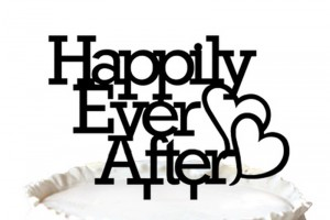 """Happily Ever After"" Wedding Cake Topper Anniversary Cupcake Stand"