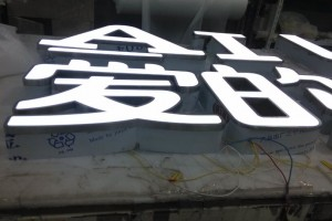3D Stainless Steel Frame and Acrylic Material LED Letter Sign