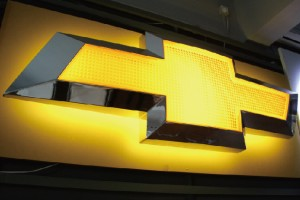 4s Store Acrylic Wall Car Logos with Lighting LED