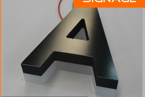Outdoor Waterproof Back Lit LED Stainless Steel Signage