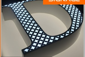 3D Frame Letters with Face Lighting