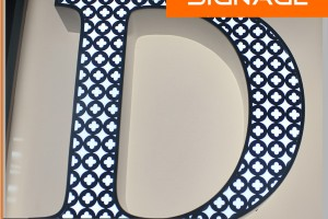 Acrylic LED Frontlit Channel Letters with Beautiful Pattern