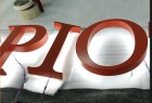 Alphabet Letters Made by Stainless Steel and Acrylic