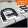 Backlit Stainless Steel LED Channel Letters Made in Suzhou