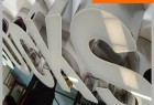 Acrylic Stainless Steel Alphabet for Outdoor Advertising