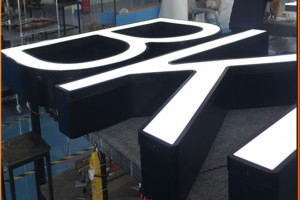 Front-Lit LED Electric Company Names Small LED Letters