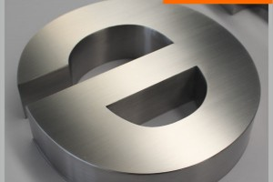 Horizontal Brushed Stainless Steel Letter
