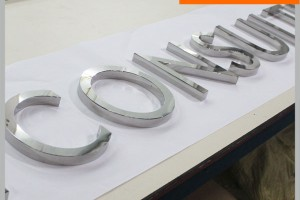 Super Great Mirror Stainless Steel Character