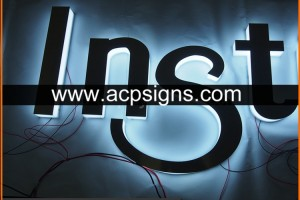 full lighted 3D plastic led Sign outdoor 3d letters