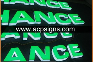 full lighted 3D plastic led indoor decorative reception acrylic frontlit &reverse lit letter sign