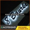 lighted sign letters metal stainless steel 3d