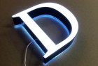 Double side lighted aluminum led channel letter acrylic letter sign