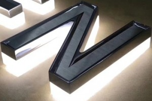 Custom Made Letter Sign LED Custom electroplate Illuminated Sign outdoor Stainless steel backlit letters sign