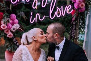 Romantic wedding event use easy installation neon letters custom led neon sign electronic signs