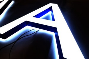 3d Acrylic Led Channel Metal Illuminated Letters Sign