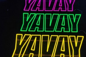 YAVAY wedding decoration custom acrylic LED edge lit letter sign, 3D open LED neon sign letter