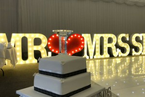 3d advertising illuminated led marquee bulb letter for wedding party