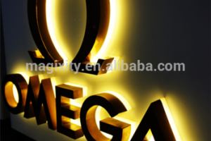 R 17 High quality waterproof led backlit sign 3d stainless steel channel letters sign