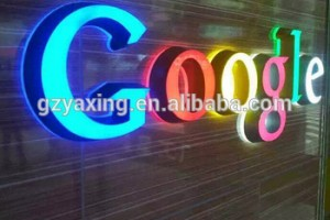 Advertising acrylic colorful high illuminated led channel letter lights sign
