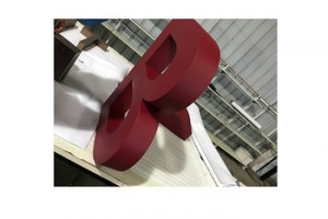 Company Logo alphabet letters clip type stainless steel sign