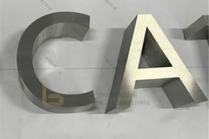 Corrosion Resistant Stainless Steel Metal Letter for Company Shop