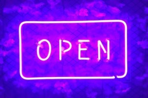 2020 Neon light letters '' open'' for shop decor fashion LED neon sign for store company work time