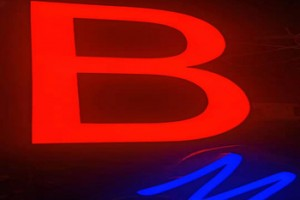 Epoxy Resin Illuminated Letters 3D Led Channel Letter Lights Signs