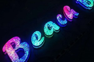 Colorful Mini LED Letters Sign 3D Led Letter Sign for Outdoor or Indoor