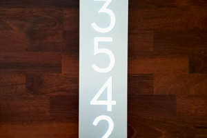 Custom Hot Selling Aluminum & Acrylic LED High Quality House Numbers Sign Light Acrylic Plate