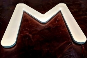 sand blasting round face light sign acrylic led letters