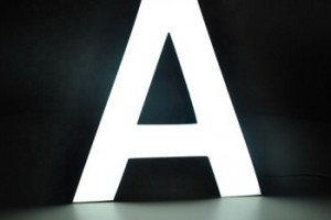 New in stock high quality 3d alphabet acrylic letters advertising outdoor led sign board