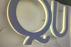 front store decoration three dimensional acrylic PMMA return led illuminated sign letters