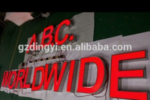 Factory Custom 3D Used Lighted Alphabet Outdoor Large Led Letters for Shop Signs