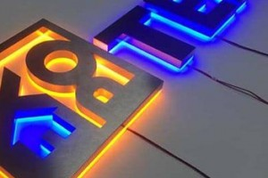 black metal backboard 3d led letter road signs letter light wholesale