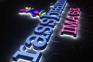 Custom made company signage front and back lit acrylic illuminated letters outdoor led channel letter signs
