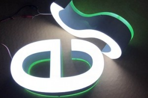 custom acrylic face and back 3D led letter logo sign for advertising