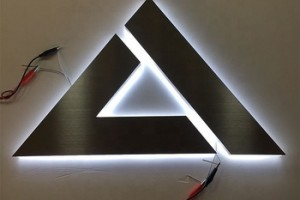 Customized 3D Illuminated silver backlit led channel letter sign for shop advertising