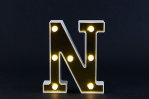 wholesale christmas party decoration advertising sign plastic alphabet led letter lights