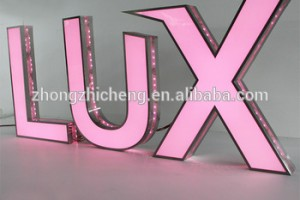 Custom outdoor wall advertising electronic stainless acrylic 3d channel light logo letter led sign