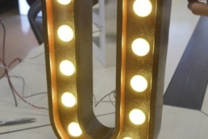 marquee bulbs letters advertising front light 3d led channel letter signs