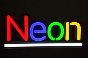 custom neon flex stripe colorful led light luminous sign factory direct sale