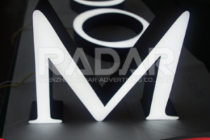 front illuminated led acrylic plastic channel letter sign